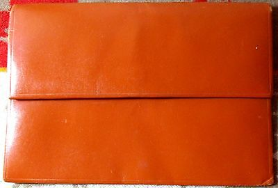 Vintage REAL HIDE MADE IN ENGLAND Passport Currency Tickets Thin Leather Holder