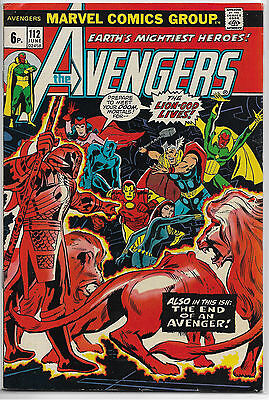 Marvel Comic: Avengers #112 Vg+ 4.5 Key 1St Mantis Of Guardians Of The Galaxy