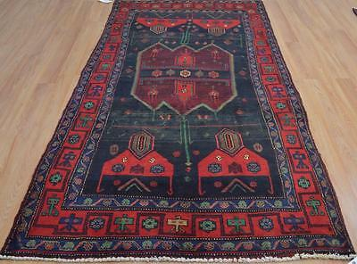 4'2 x 8'9 Durable Genuine S Antique Persian Bijar Tribal Hand Knotted Wool Rug