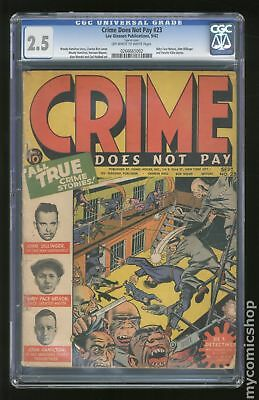 Crime Does Not Pay (1942) #23 CGC 2.5 0266665002