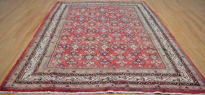 7'2x9'4 Beautiful All Over Mahal Genuine S Antique Persian Hand Knotted Wool Rug