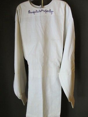 Vintage 40s Hospital Gown, surgical gown