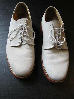 Vintage White Suede Bucks, Churchill brand size 10 rockabilly shoes