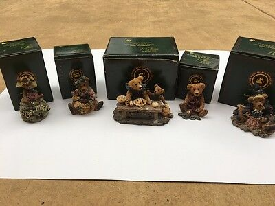 Boyds Bears Lot of 5  Excellent Condition with Boxes