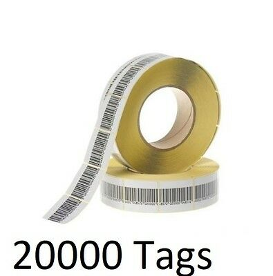 20000 PCS EAS CHECKPOINT® BARCODE SOFT LABEL TAG 8.2  3 X 4 cm 1.18 X 1.57 inch