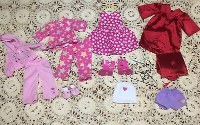 """Lot Of 18"""" Doll Clothes Outfits Sets Dress Shoes Pj's Jacket PantS & Accessories"""