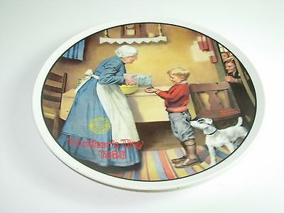 KNOWLES COLLECTOR PLATE THE PANTRY RAID 1986 MOTHERS DAY jack russell terrier