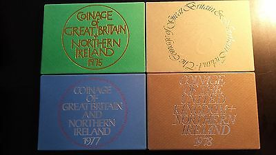 Coinage of Great Britain and Northern Ireland 1975-1978 Proof Sets (Lot of 4)
