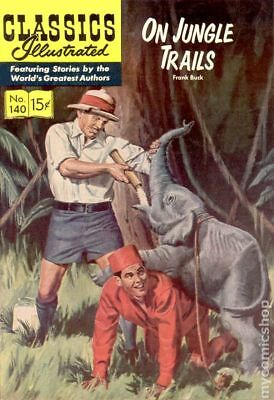 Classics Illustrated 140 On Jungle Trails (1957) #1 GD/VG 3.0 LOW GRADE