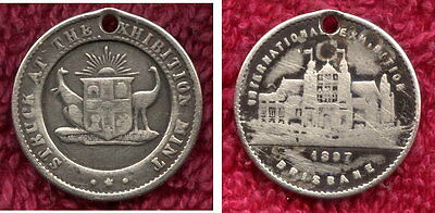 1897 brisbane Silver  Exhibition Medal SCARCE