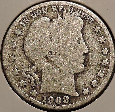 Barber Half - 1908-S - Historic Silver! - $1 Unlimited Shipping