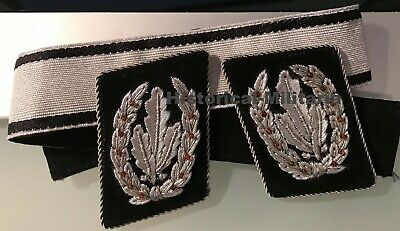 New pair German slip-on shoulder boards + plus cuff band and screw-in buttons