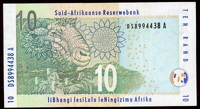 South Africa  10 Rand 2005 Note !!! Aunc