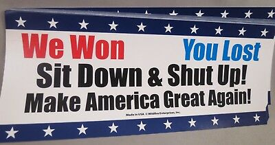 Wholesale Lot Of 10 Trump We Won You Lost Make America Great Again  Sticker Usa