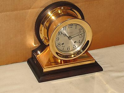 Chelsea Antique Ships Bell Clock~Commander Model~4 1/2 In Dial~1927~Red Brass