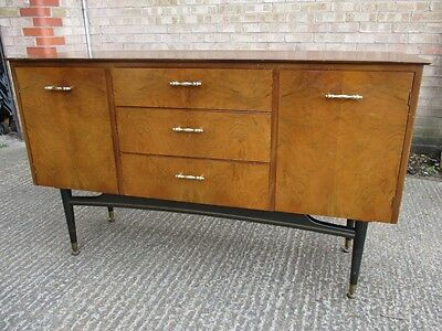 Sideboard - Walnut & Black - Possibly G Plan or Avalon - Retro 1960s - RARE