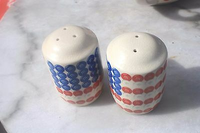 M&M Candy salt and pepper shakers, M&M World HTF, never used.Design, U.S. Flag