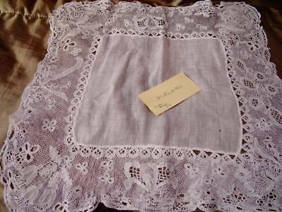 A Stunning Antique Mid-19th Century Honition Handkerchief With Provenence
