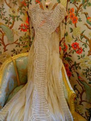 A Stunning Antique Edwardian Lace Bridal Gown ~ Evening Gown C.1905