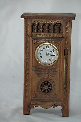 Antique French Bayard Carved Cabinet Clock.