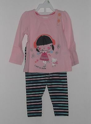 NWT Gymboree Girl 2 Piece Long Sleeves  Shirt & Pants Set Size 12 - 18  Months