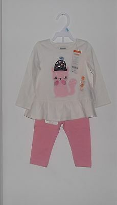NWT Gymboree Girl 2 Piece Cotton Tunic  Shirt & Pants Set Size 12 - 18  Months