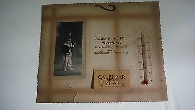 1920 Calendar & Thermometer - James R. Miller Clothing - Chicago