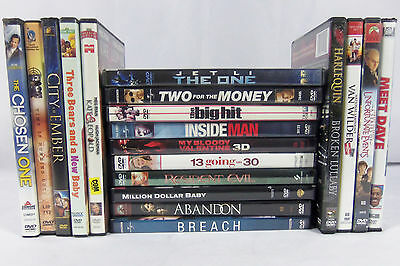 Lot of 19 DVD Movies Variety Comedy Family Action Adventure Children's Kids