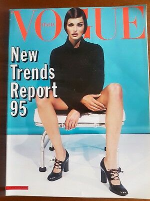 Vogue Italia July 1995 Collections Supplement Linda Evangelista Cover