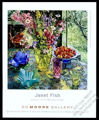 2005 Janet Fish Nan's Kitchen painting NYC gallery show vintage print ad