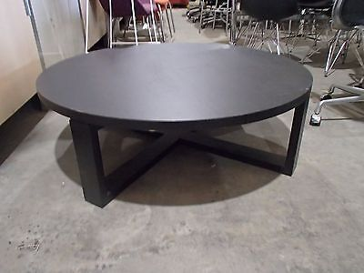 Home/Office Round Coffee Table Brown Melamine 34105/51