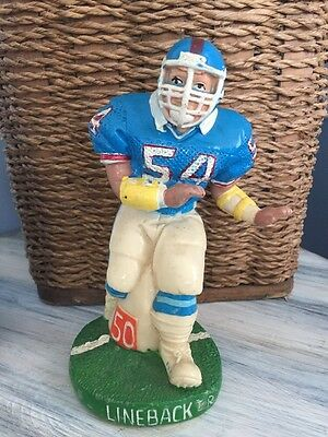 Vintage Football Player Bank 1988  Linebacker #54 Figurine