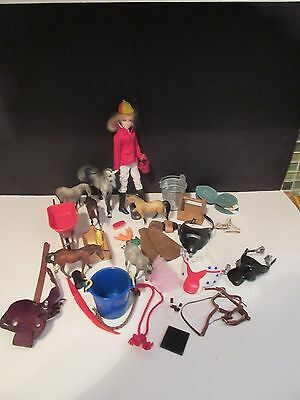 Breyer Lot English Rider Doll Whinnies Horses Accessories Play Set NICE