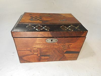 Antique inlaid Japanese Lacquered Tea Caddy   ref 3072