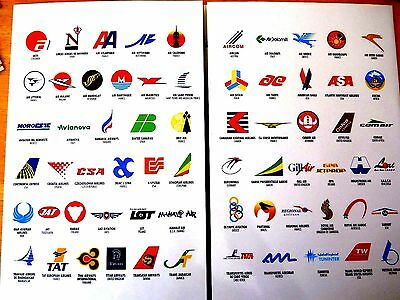 Airlines....atr  Around The World Airline Logo's & Photo's  Brochure