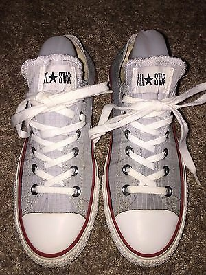 Converse Chuck Taylor All Star Gray Textile Shoes Size Women's 9 / Men's 7