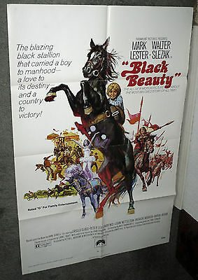 BLACK BEAUTY original 1971 27x41 one sheet movie poster MARK LESTER