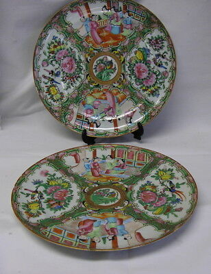 Two Chinese Rose Medallion Dinner Plates