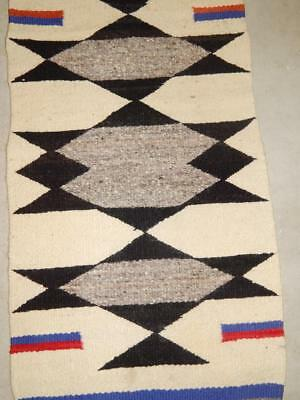 Vintage Navajo Indian Gallup Throw Rug -  4 Corners Area - Clean + Patriotic -