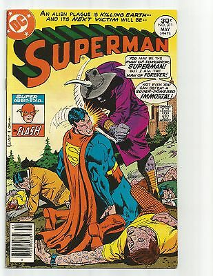 Superman #311  May 1977  FN+ 6.5  Flash appearance