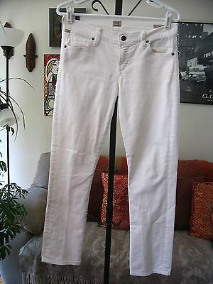 CITIZENS OF HUMANITY sz 27 White Stretch Denim Ava Low Rise Straight Leg Jeans