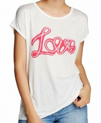 Soprano NEW White Pink Women's Size XL Graphic Tee Love Printed T-Shirt #439