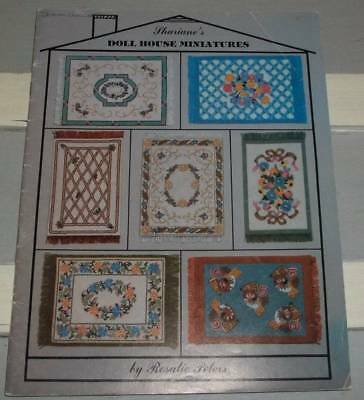 1980 Shariane's Designs Dollhouse Miniature Rug Making Instruction Book