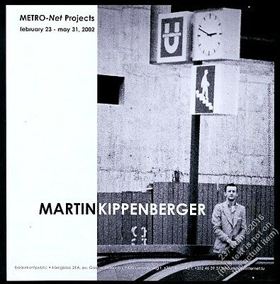 2002 Martin Kippenberger photo Luxembourg gallery show vintage print ad