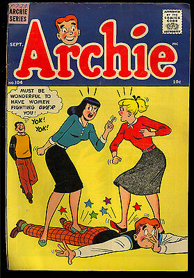 Archie #104 thru 106 Silver Age Teen Humor GROUP (3 Comics) 1959 VG-