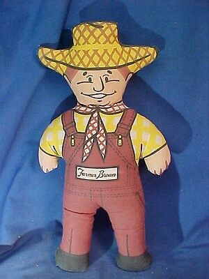 """1970s FARMER BROWN Stuffed CLOTH Advertising DOLL for BROWNS CHICKEN 16"""""""