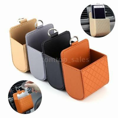 Car Pocket Seat Tidy Storage Coin Bag Case Air Hanging Checkered Box holder T2A3
