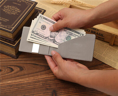 Mens Magic Flip Wallet Money Clip Bifold Slim Credit Card Holder Purse