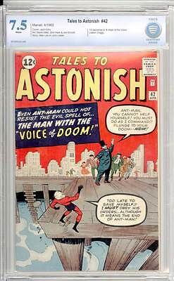 Tales to Astonish # 42  The Man with the Voice of Doom !  CBCS 7.5 scarce book !