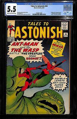 Tales to Astonish # 44  Origin & 1st app. of the Wasp !  CGC 5.5 scarce book !